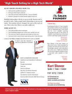 Kurt Shaver Speaker One Sheet