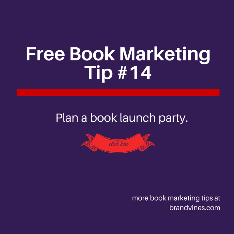 Plan a Book Launch Party