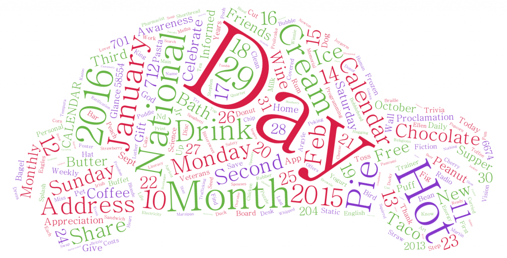 Calendar-Word-Cloud